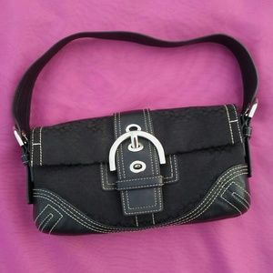 Authentic Coach EUC black handbag